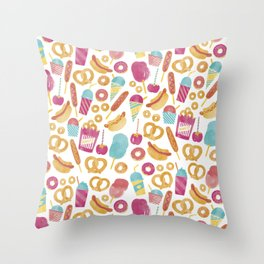 Carnival Food  Throw Pillow