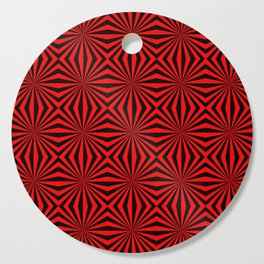 Red Abstract Modern Pattern Art Design Cutting Board