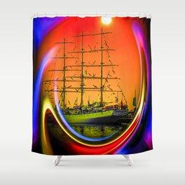 Sailing romance 13 Shower Curtain