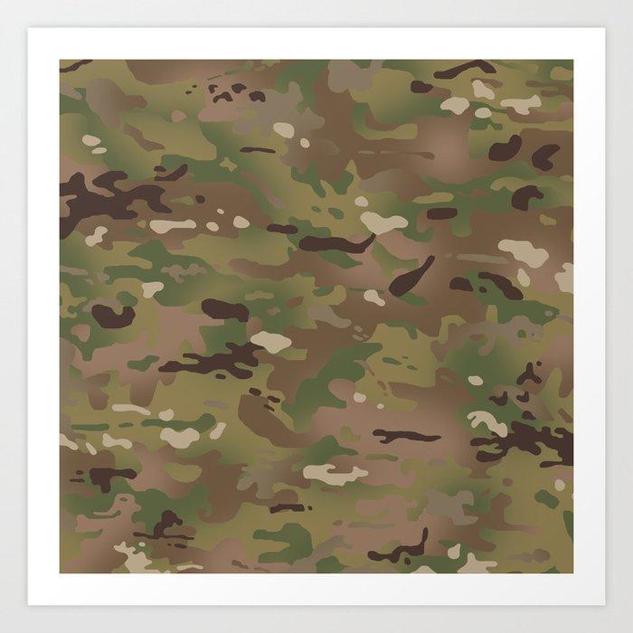 Military Woodland Camouflage Pattern Kunstdrucke