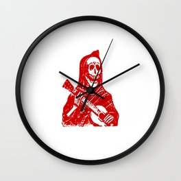 Grim Reaper With Guitar Wall Clock