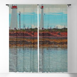 Lighthouse Travels in Time Blackout Curtain