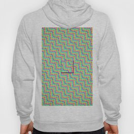 Pixelated colored squares background Hoody
