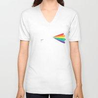 big bang V-neck T-shirts featuring The big bang by I Love Doodle