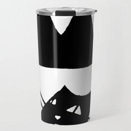 Square cat Travel Mug