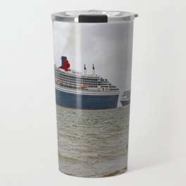 Three Queens at Sea (Digital Art). Travel Mug