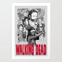 the walking dead Art Prints featuring Walking Dead by Matt Fontaine