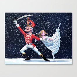 The Nutcracker with Clara Canvas Print
