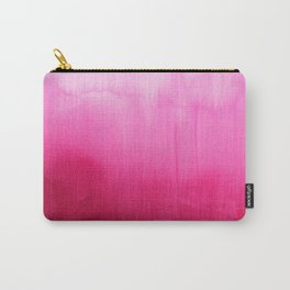 Modern fuchsia watercolor paint brushtrokes Carry-All Pouch