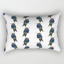 Blue-tufted Starthroat Rectangular Pillow