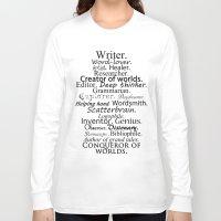 writer Long Sleeve T-shirts featuring Writer by Rebekah Joan