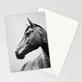 Horses - Black & White 2 Stationery Cards
