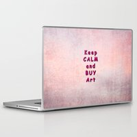 keep calm Laptop & iPad Skins featuring Keep Calm by Tina Vaughn