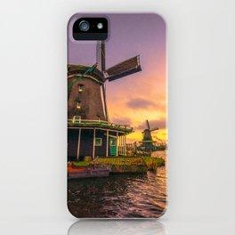 zaanse schans windmill village iPhone Case