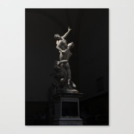 Florence Statues Canvas Print
