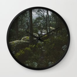 Misty Mornings at Cathedral Rock Wall Clock
