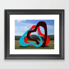 Triangles Red, Blue, Black - Sculpture Implants Series Framed Art Print