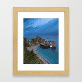 Evening Landscape of the Durdle Door, UK Framed Art Print