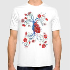 Romantic Anatomy Mens Fitted Tee MEDIUM White