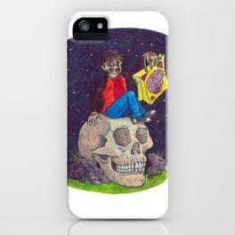 HALLOWEEN - Zombie-Boy with Skull  iPhone Case
