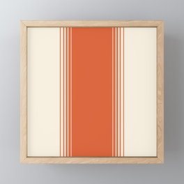 Marmalade & Crème Vertical Gradient Framed Mini Art Print