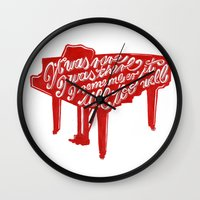 lyrics Wall Clocks featuring Piano lyrics by saralucasi