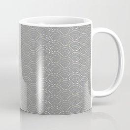 Japanese Wave Seigaiha Super Moon Grey Pattern Coffee Mug