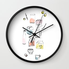 Sugar, flour and milk Wall Clock