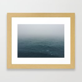 Lost somewhere in the North Sea Framed Art Print
