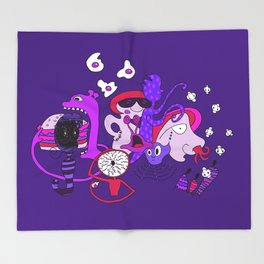 Freak Party Version 2 Throw Blanket