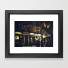 Bookstore with charm Framed Art Print