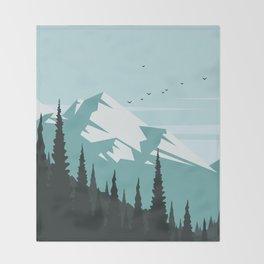 Winter Landscape Throw Blanket
