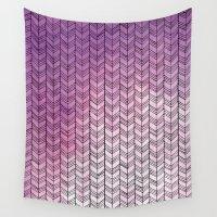 herringbone Wall Tapestries featuring Herringbone by Tooth & Nail Designs
