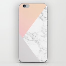 Marble Shapes iPhone Skin