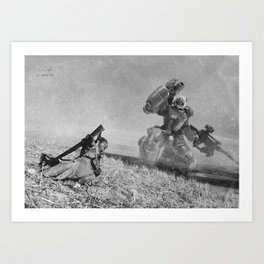 The Falling Soldier 2 Art Print
