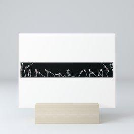 Skeleton Yoga - Sun Salutation Mini Art Print