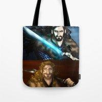 fili Tote Bags featuring Thorin & Fili by wolfanita