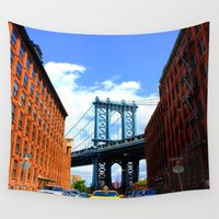 bridge Wall Tapestries featuring Bridge by Brown Eyed Lady