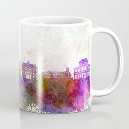 Ljubljana skyline in watercolor background Coffee Mug