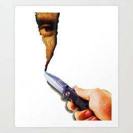 Mona Lisa Surreal Knife Canvas Blank Art Print