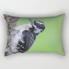 Downy Woodpecker! Rectangular Pillow