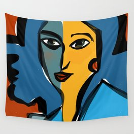 Staring at Matisse Wall Tapestry