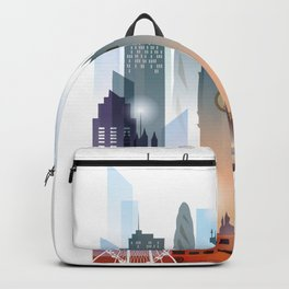 London city skyline, United Kingdom Backpack