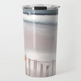 Winter Beach Travel Mug