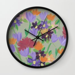 Wallflowers II Wall Clock