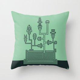 Planticular Robotic Throw Pillow