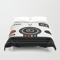 polaroid Duvet Covers featuring polaroid by The Geek Store