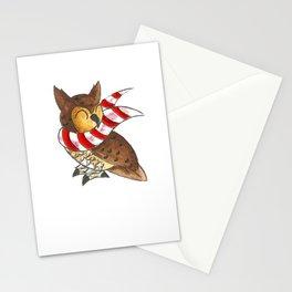 Cozy Christmas Owl Stationery Cards