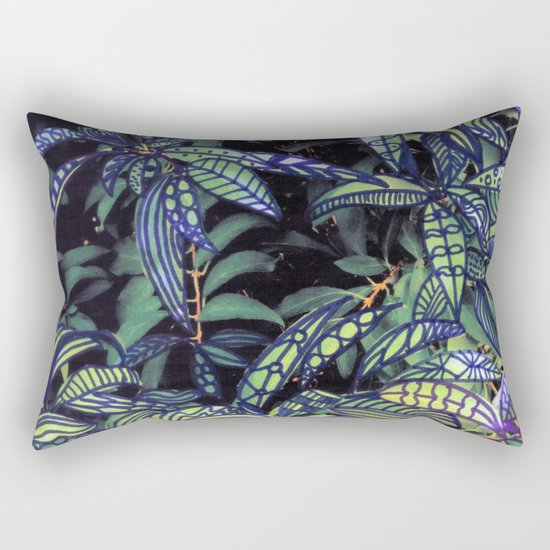 leaves evolved 4 Rectangular Pillow
