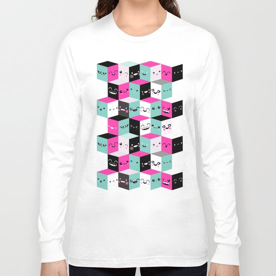 The Many Faces of Cute Long Sleeve T-shirt